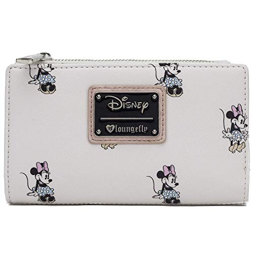 Loungefly Disney's Vintage Minnie Mouse Allover Wallet , Ivory , One Size