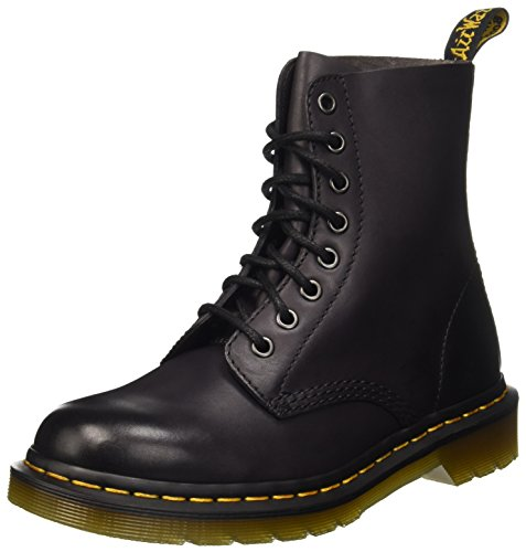 Dr. Martens Pascal 8 Eye Boot Combat, Charcoal Antique Temperley, 10 Medium UK (US Men's 11 US)