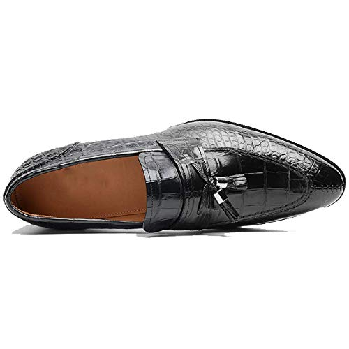 Business Casual da Tonda in alla Scarpe Custom Made Pigro Moda alla Pelle Uomo E Testa Scarpe da Traspirante Moda Black Wwq400PTY