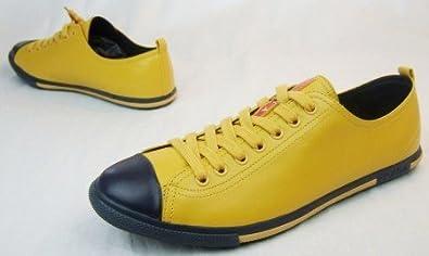 eeb7c522ba13f Prada  Edle Herren-Sneaker Schuhe  Nappa-Leder gelb  44  Amazon.de ...