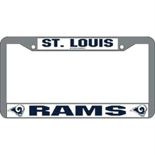 St. Louis Rams NFL Chrome License Plate Frame by Rico Industries