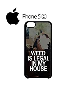 LJF phone case Weed is Legal in My House Cannabis Mobile Cell Phone Case Cover iPhone 5c Black