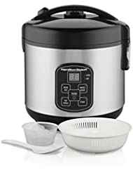 Hamilton Beach (37518) Rice Cooker, 4 Cups uncooked resulting in 8 Cups Cooked with Steam & Rinse Basket