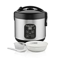 Making a complete and balanced meal in the Hamilton Beach Rice Cooker and Steamer is as easy as placing the ingredients in the bowl and turning it on. Not only does it cook rice and whole grains perfectly, but an integrated basket can be used...