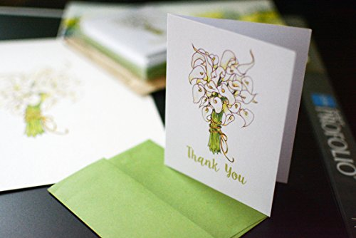 Calla Lily Stationery - Calla Lily Thank You Cards