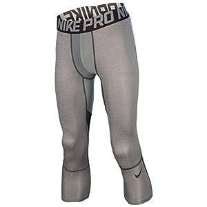 Nike Men's Dri Fit Hypercool Compression Training Leggings Carbon Heather XL
