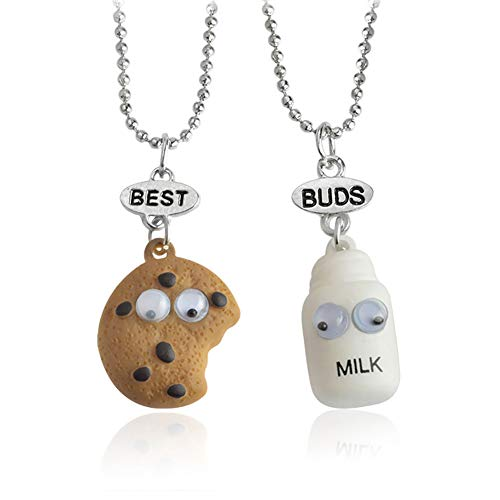 YinXX Three-Dimensional Cookie Milk Pendants Necklace,Good Friend Sharing Necklace,Best Gift,18.5 Inch,Best_Buds ()