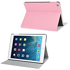 Oracle Texture Leather Case with 3 Gears Holder for iPad Air (Pink)