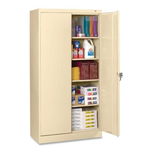 Tennsco 7224 24 Gauge Steel Standard Welded Storage Cabinet, 4 Shelves, 200 lbs Capacity per Shelf, 36'' Width x 72'' Height x 24'' Depth, Putty