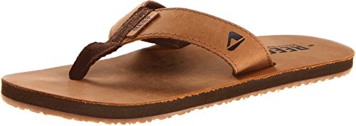 Reef Men's Leather Smoothy Sandal, Bronze/Brown, 4 M - Leather Footwear Bronze