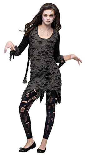 [Living Dead Walking Zombie Costume - Teen] (Dead Clown Girl Costume)