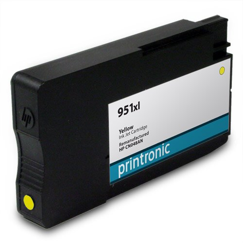Printronic Remanufactured HP 951xl CN048AN 1 Yellow for OfficeJet Pro 251dw OfficeJet Pro 276dw OfficeJet Pro 8100 OfficeJet Pro 8600 Ink Cartridges