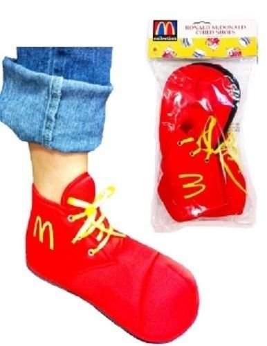 Ronald McDonald Child Shoes Costume Accessory]()