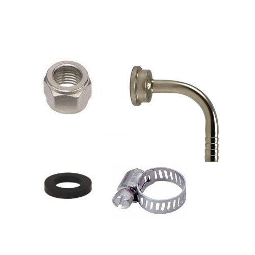 Bev Rite CPCCM188SS Connector Kit For Beer Line With Elbow Tailpiece, Stainless Steel Contact (304 Grade)