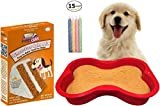 Dog Birthday Cake Kit | Puppy Cake Wheat-Free Peanut Butter Dog Cake Mix and Frosting | Happybotham Silicone Dog Bone Birthday Cake Pan for Dogs, 7-Inch by 10-Inch, Small | Birthday Candles (Red) Larger Image