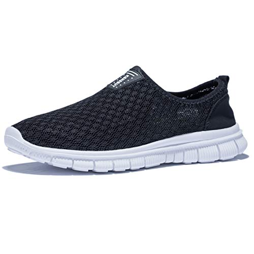 KENSBUY Mens Breathable Durable Sports Running Shoes Lightweight Mesh Walking Sneakers EU41 Black by KENSBUY (Image #1)