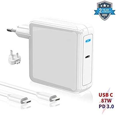 Cargador USB C 87W PD Type C Cargador Compatible con MacBook Pro ...