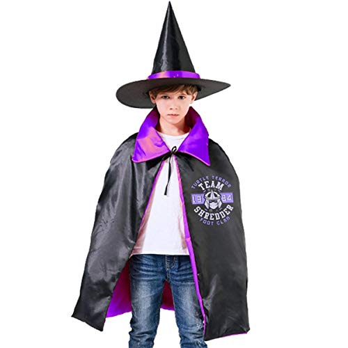 Teenage Mutant Ninja Turtles Shredder Foot Clan Unisex Kids Hooded Cloak Cape Halloween Party Decoration Role Cosplay Costumes Outwear Purple