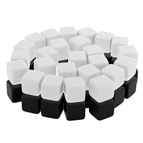 MagiDeal 50pcs Plastic Blank 6 Sided Dice D6 for Dungeon & Dragons RPG MTG Party Pub Bar Game Cubes by Unknown