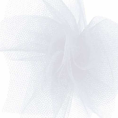 Offray Tulle Craft Ribbon, 6-Inch by 100-Yard, White - 100 Yard White Tulle