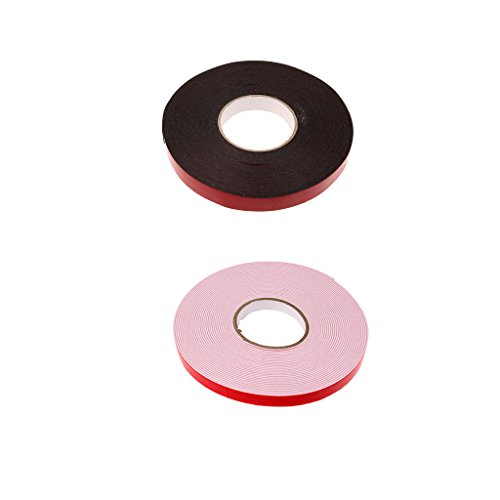Jili Online 2 Pieces Foam Double Sided Attachment Adhesive Tapes for Car Auto Truck Mounting Handy Book Truck