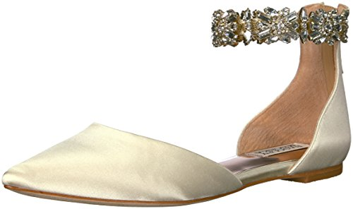 Jane Women's Mischka Ivory Flat Badgley Morgen Mary Iwq5xT