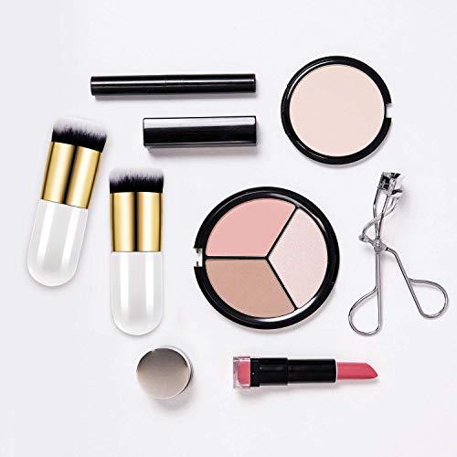 Boao 2 Pieces Foundation Brush Flat Cream Makeup Brushes Cosmetic Make-up Brush (white)