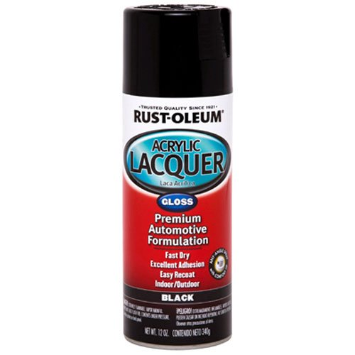 Rust-Oleum Automotive 253365 12-Ounce Acrylic Lacquer Spray, Black Gloss (Acrylic Black Paint Automotive)