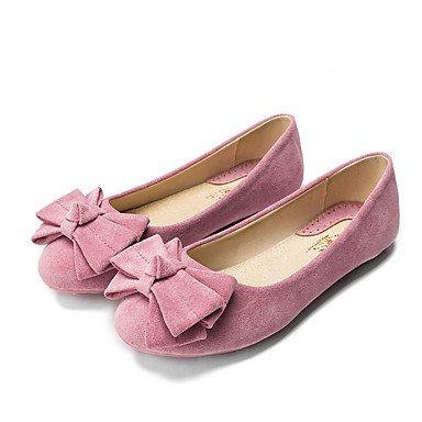 Cómodo y elegante soporte de zapatos de mujer Flats punta redonda/cerrado en los dedos/Flats Casual Flat Heel bowknotblack/azul/amarillo/rosa/ negro