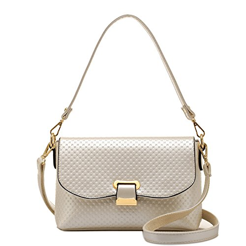 Crossbody Main à Sac White Bag Pour Cross Emboss Bandoulière à Sac Fashion Femme Twzvwq