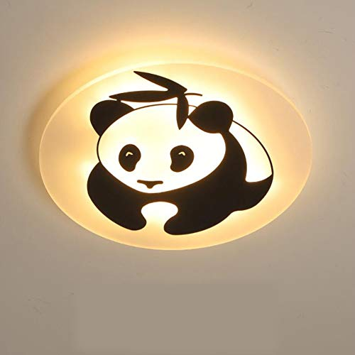 BTSSA Children's Ceiling Light Metal Acrylic Children's Room Ceiling lamp LED Panda Light Cartoon Study Bedroom lamp Ceiling Lamp,Warmcolor,50cm