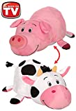 FlipaZoo 16 Plush 2 in 1 Pillow - Pig Transforming to Cow