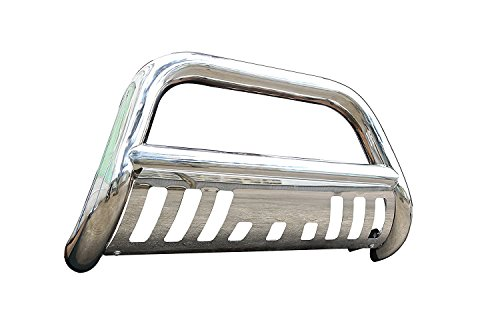 - EZ Auto Premium Stainless Steel Chrome Bull Bar Bumper Brush Guard with Skid Plate Fits Chevy/GMC Blazer/C/K Series/Suburban/Tahoe/Yukon