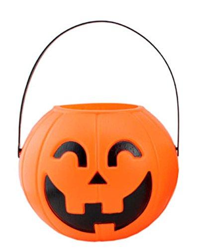 Pumpkin Pot Jack-O-Lantern Bend Eye Large Size 6.2