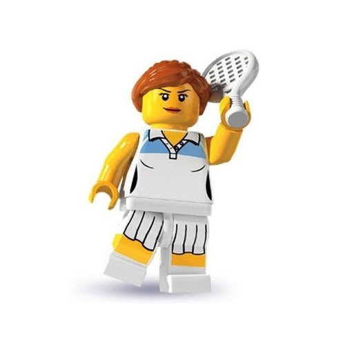 Lego: Minifigures Series 3 > Female Tennis Player - Toy Player Tennis