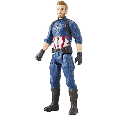 Avengers E1421 Marvel Infinity War Titan Hero Series Captain America with Titan Hero Power FX Port, 12""