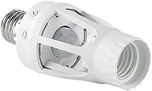 Electraline 58309 portal mparas base de la bombilla e27 for Bombilla sensor crepuscular