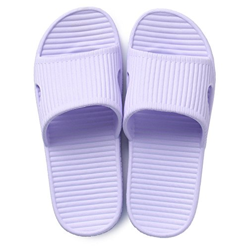 Home Casual Couple Home Haunting Summer Indoor Bathroom Bathing Slip Skirt Cool Slippers Male Purple GTXQL