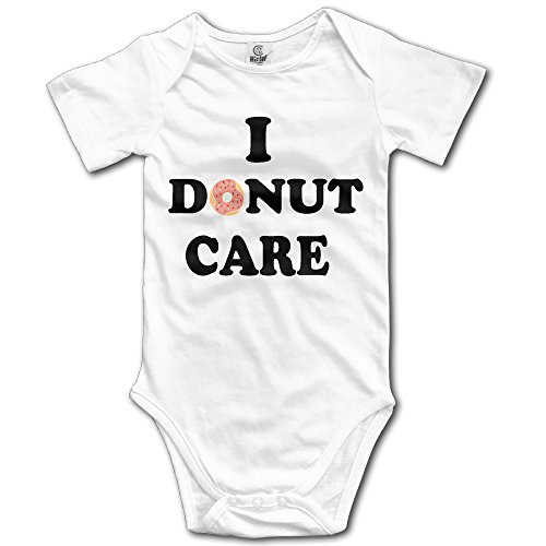 Fillmore-M Newborn Babys Boy's & Girl's I Donut Care Short Sleeve Romper Bodysuit Outfits For 0-24 Months White Size 3M