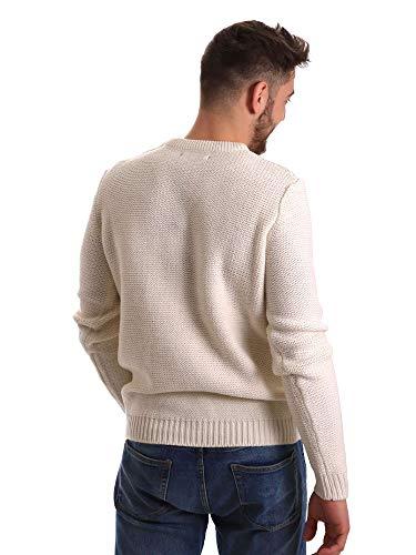 Maglione Jeans Bianco 821bu53042 Gaudi Uomo EXzHwqq