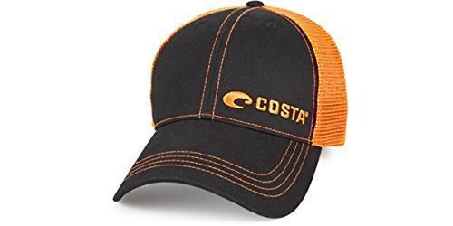 - Costa Del Mar Neon Trucker Black/Neon Orange New 2017 Hat