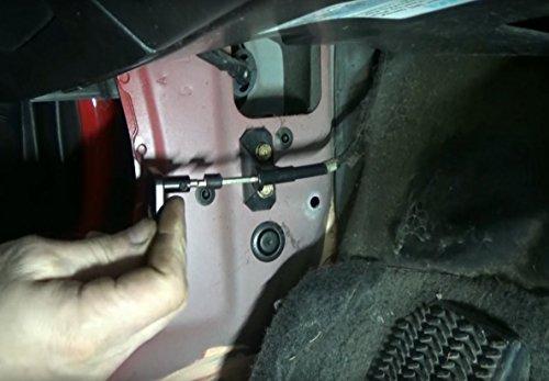 ufer billet aluminum hood latch release cable repair kit handle  honda civic   crv