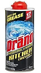 Drano Professional Strength Kitchen Crystals Clog Remover, 18 Oz (Pack of 3)