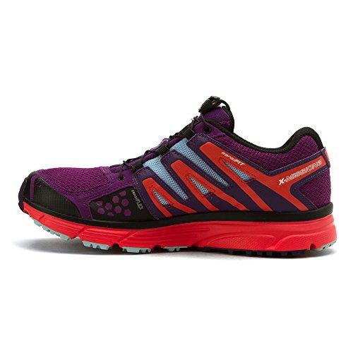 Salomon Womens X-mission 3 Cs Scarpe Da Trail Running E Ricambio Quicklace Bundle Passion Purple / Coral Punch / Cristal