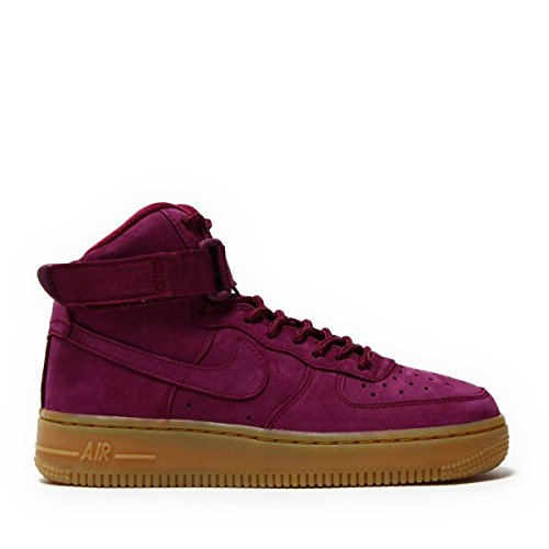 Nike AIR FORCE 1 HIGH WB (GS) girls fashion-sneakers 922066-600_4.5Y - BORDEAUX/BORDEAUX-GUM LIGHT BROWN-BLACK by NIKE