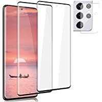 SYBS [2+2 Pack] Galaxy S21/S21 Plus/S21 Ultra Screen Protector and Camera Protector[Support Sensor Fingerprint]Bubble…