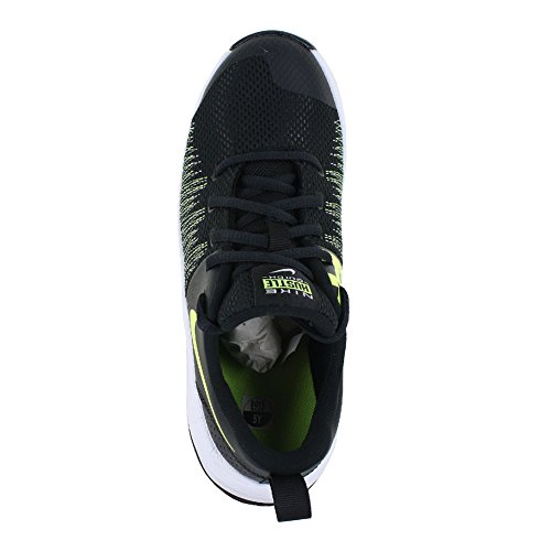 NIKE Kids Team Hustle Quick (GS) Black Volt White Size 7