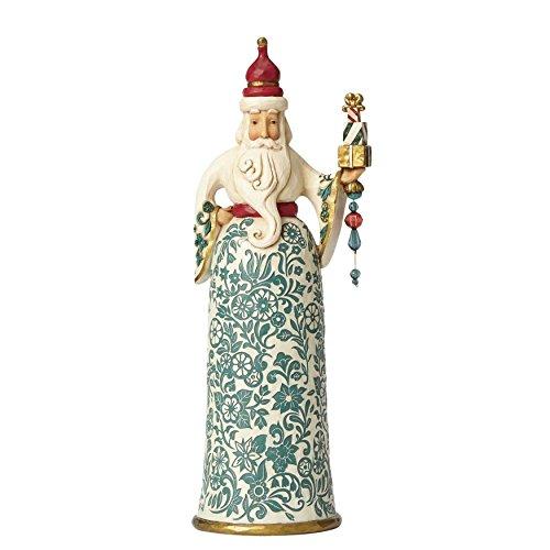 Enesco Jim Shore Gracious is Giving Golden Garland Santa Christmas Figurine 4058759 New by Enesco