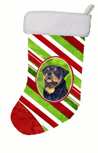 Caroline's Treasures SS4593-CS Rottweiler Winter Snowflakes Christmas Stocking SS4593, Large, Multicolor ()