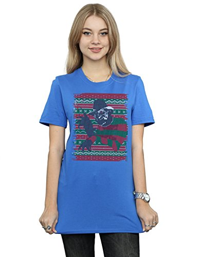 Feria de camiseta Nightmare Street Blue Boyfriend On Isle Mujer Royal Elm Fit Navidad RCxwfTqSx